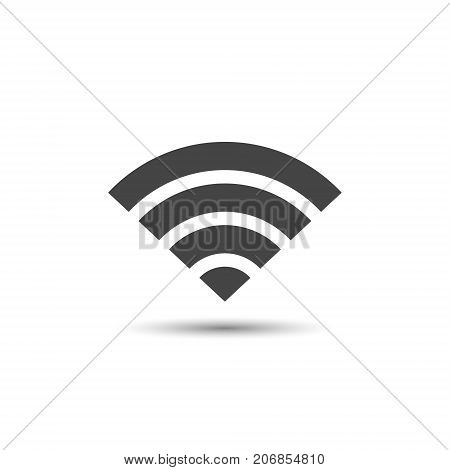 Wifi icon vector wifi simple connect symbol isolated on white background.