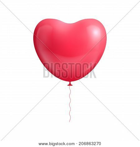 Heart shape balloon isolated a vector illustration