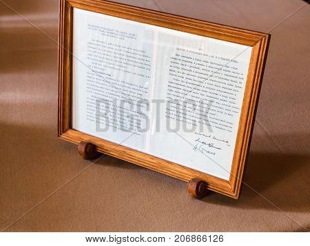 Signatures Of Stalin, Roosevelt, Churchill