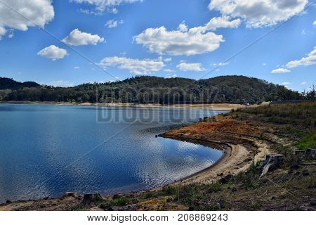 Scenic Landscape On The Lake Baroon In Australia