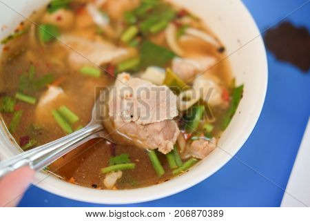 Pork Bone Hot And Spicy Soup