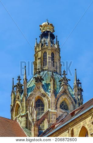 Church of the Assumption of the Virgin Mary (Giovanni Battista Santini architect) in Abbey of Kladruby Czech republic. Dome