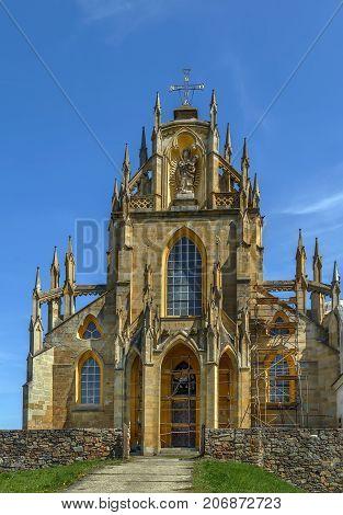 Church of the Assumption of the Virgin Mary (Giovanni Battista Santini architect) in Abbey of Kladruby Czech republic. Facade