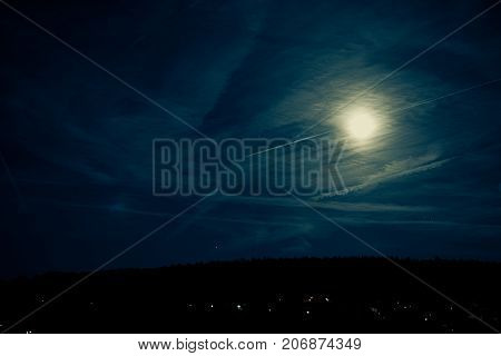 moonlight sky dark light night nature creative