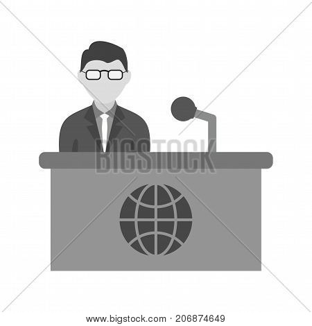 News, desk, broadcast icon vector image. Can also be used for news and media. Suitable for mobile apps, web apps and print media.
