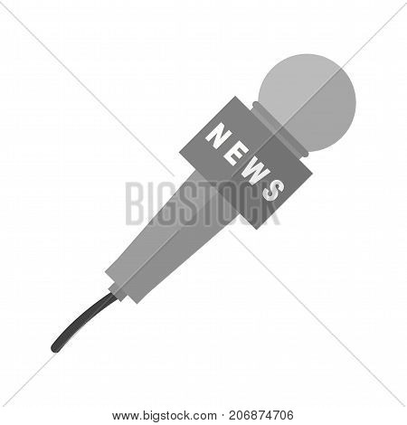 News, conference, mic icon vector image. Can also be used for news and media. Suitable for mobile apps, web apps and print media.
