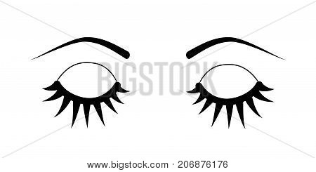 Closed Eyes Eyelash Extensions
