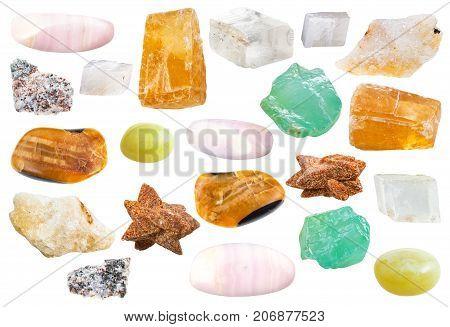 Various Natural Mineral Decorative Calcite Stones