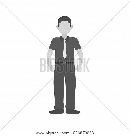 Confidence, self, strong icon vector image. Can also be used for soft skills. Suitable for mobile apps, web apps and print media.