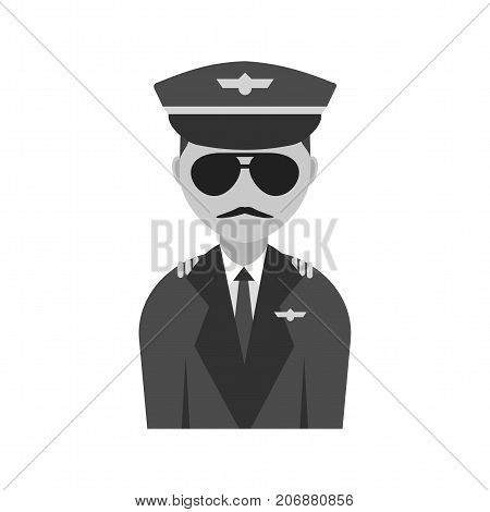 Captain, flight, pilot icon vector image. Can also be used for airport. Suitable for mobile apps, web apps and print media.