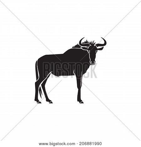 wildebeest logo sign vector illustration on white background