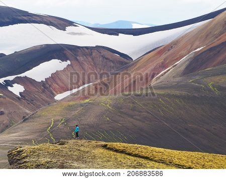 Colorful mountains at Landmannalaugar - start of Laugavegur trail Iceland. poster