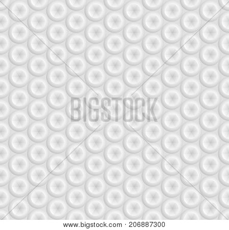 White seamless geometric pattern ribbed surface circle with a faceted groove the 3D effect vector.