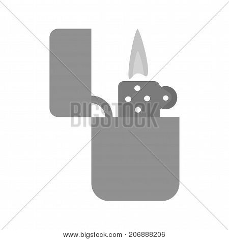 Lighter, light, fire icon vector image. Can also be used for Mens Accessories. Suitable for mobile apps, web apps and print media.