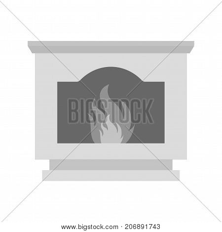 Fire, coal, furnace icon vector image. Can also be used for Climatic Equipment. Suitable for mobile apps, web apps and print media.