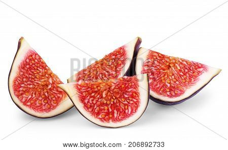 Fig isolated on white background. Egg, Quail, Color, Image, White, Objects, Background,
