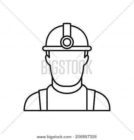 Oil worker icon. Black outline illustration of Oil worker vector icon for web isolated on white background