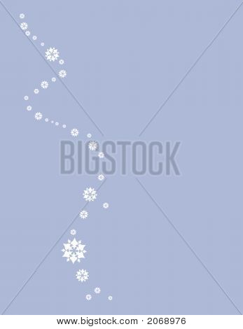 holiday letter with snow flakes decoration with on white background poster
