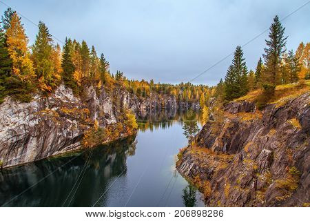 Abandoned Marble Canyon. Awesome Autumn Landscape.