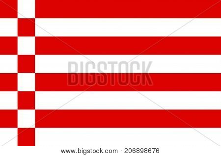 Flag of The Free Hanseatic City of Bremen is the smallest of Germany 16 states. Vector illustration