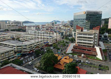 Aerial View Of Kota Kinabalu