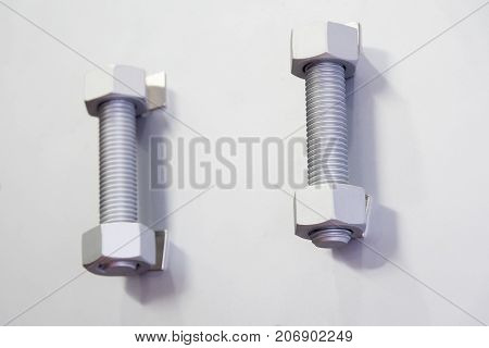 The screw stud bolt attach at the board.