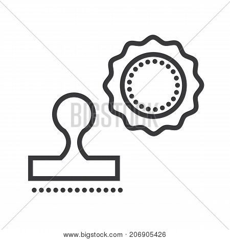 stamps vector line icon, sign, illustration on white background, editable strokes