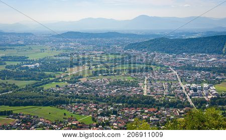 The View Of Ljubljana From Smarna Gora.
