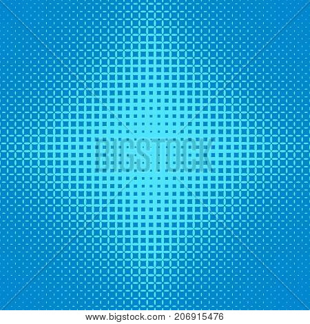 Blue abstract symmetrical halftone ellipse grid pattern background - vector design from ellipses