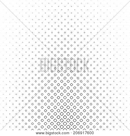 Monochrome square pattern - geometrical halftone abstract vector background illustration from diagonal rounded squares