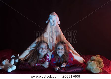 Children Have Pajama Party With Teddy Bears