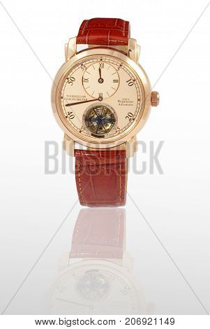 luxury watch isolated on a white background