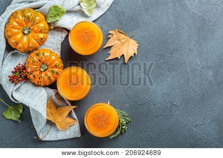 Thanksgiving Pumpkin Autumn Fresh Juice Drink Cocktail Beverage