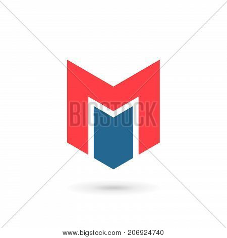 Letter M Shield Logo Icon Design Template Elements