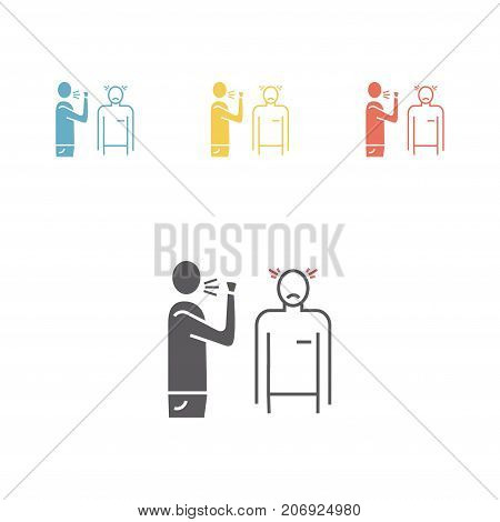 Airborne infection. Line icon Vector sign for web graphic