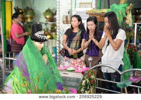 16 December 2016 Myanmar people respect for Amadaw Mya Nan Nwe