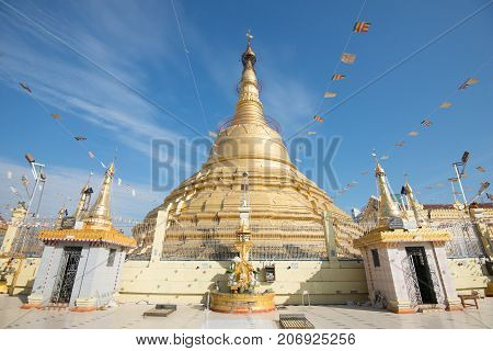 botahtaung pagoda is a famous pagoda located in downtown Yangon Myanmar near the Yangon river. The pagoda was first built by the Mon around the same time as was Shwedagon Pagoda