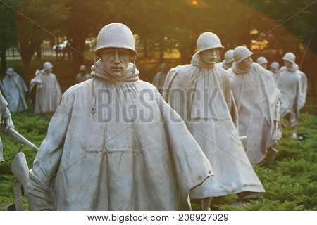 Korean War Veterans Memorial Statues, Dc