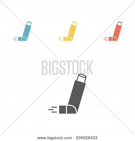Inhaler for asthma icon. Vector illustration sign