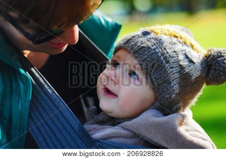 Mother and baby love - purest affection in the eye look