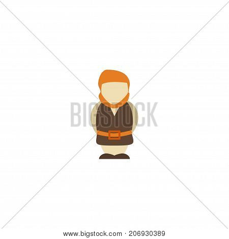 Flat Icon Giant Element. Vector Illustration Of Flat Icon Huge Man Isolated On Clean Background