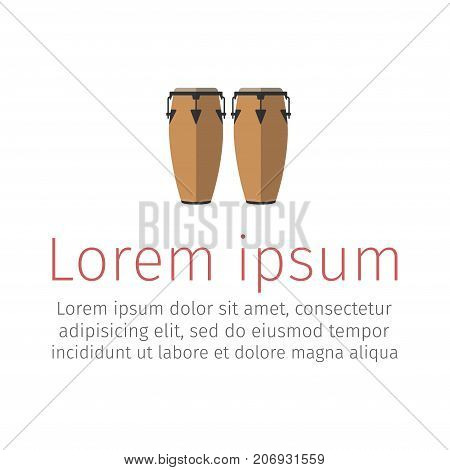 Conga musical instrument. Flat icon. Vector signs for web graphics.