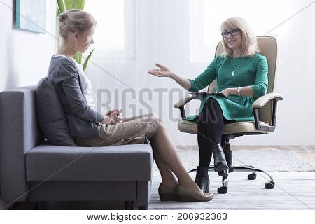 Divorced Woman Getting Mental Support