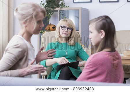 Strict Mother Complaining About Daughter