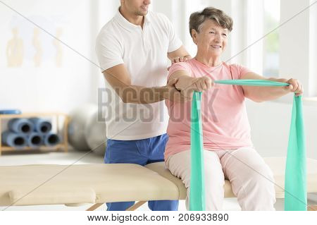 Elderly Woman Doing Exercises