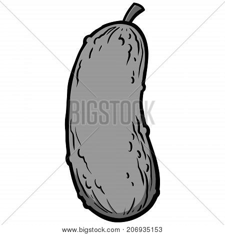 A vector illustration of a cartoon Pickle.