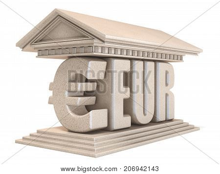 Euro Eur Currency Sign Temple 3D