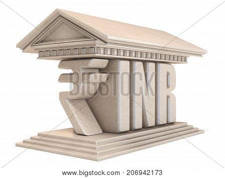 Indian Rupee Inr Currency Sign Temple 3D