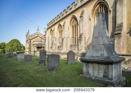 The old St. Andrews Church in Chippenham, Wiltshire, England UK