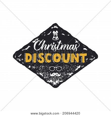 Super Christmas sale lettering and typography elements. Holiday Online shopping type quote. Stock vector illustration isolated on white background